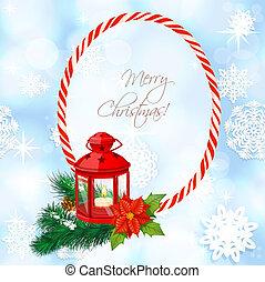 christmass, fondo, con, pila