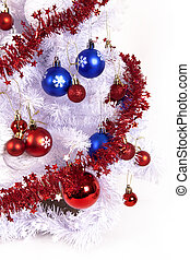 blue and red decorations