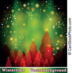 Christmassy background with sparkling stars