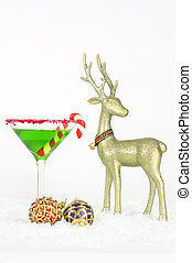 Christmastime - A christmas drink, with red and purple...