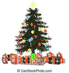christmastree, 와, praesent