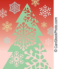 ChristmasTree 1 - Illustration of a stylized Christmas tree...