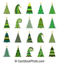ChristmasTree-33 - Set of twenty different Christmas trees....
