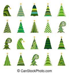 ChristmasTree-34 - Set of twenty different Christmas trees....