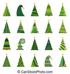 ChristmasTree-35 - Set of twenty different Christmas trees....
