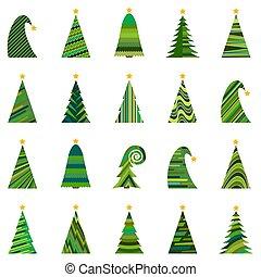 ChristmasTree-36 - Set of twenty different Christmas trees....