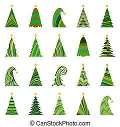 ChristmasTree-37 - Set of twenty different Christmas trees....