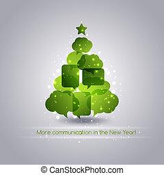 christmastree, Bolle, discorso, fondo