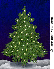 Christmastree with lights