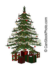 Christmastree with praesent