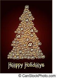Christm@s tree gold