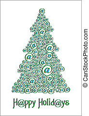 Christm@s tree green