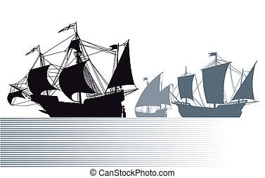 christophe, bateaux, colomb