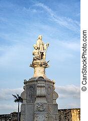 christopher colón, estatua