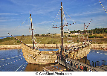 Christopher Columbus Ships - One of the three ships that...