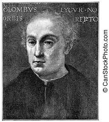 Christopher Columbus, vintage portrait