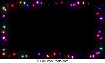 Christsmas Light Frame Garland Bulb - Colorful 01