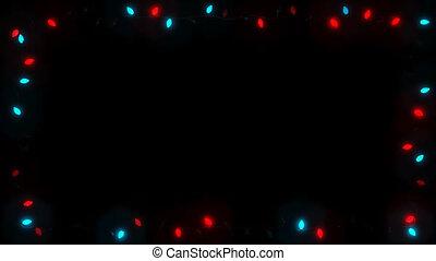 Christsmas Light Frame Garland Bulb - Red Blue Random