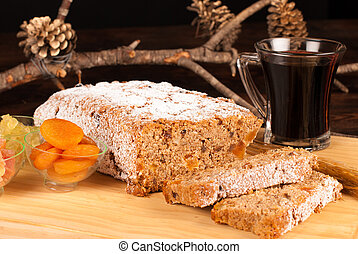 Christstollen with mulled wine