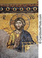 christus, mozaïek, jesus