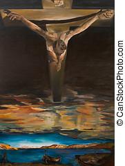 christus, von, heilige john, von, der, kreuz, reproduktion