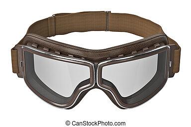 chrom, einsätze, flieger, brille