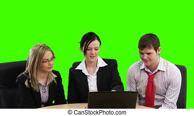 Chroma key Business footage 5