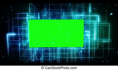 Chroma key on galactic background - Chroma key on animated...