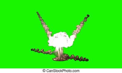 chromakey bomb explosion