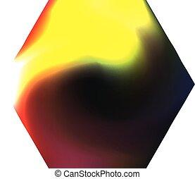 chromatic, fondo., hexagonal