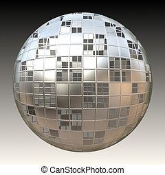Chrome 3D Sphere
