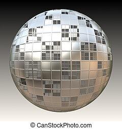 Chrome 3D Sphere