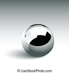 Vector illustration representing isolated single chrome ball.