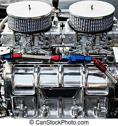 Chrome big block engine.