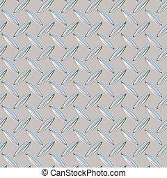 chrome diamond plate - A chrome, diamond plate texture that...