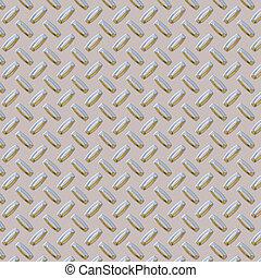 chrome diamond plate metal
