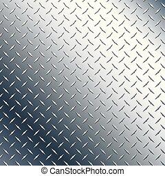 Chrome Diamond Plate Vector Graphic Illustration