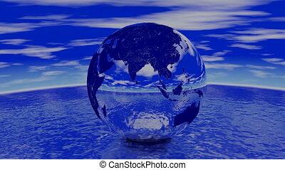 Chrome Earth. Loop. CG. hd
