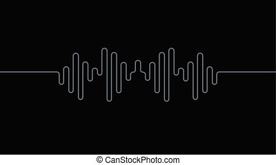 Chrome equalizer sound wave background