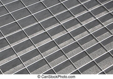 Chrome grate in perspective