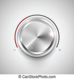 Chrome Knob - illustration of chrome knob for adjustment