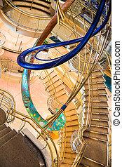 chrome, laiton, escaliers