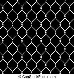 chrome, metal grid