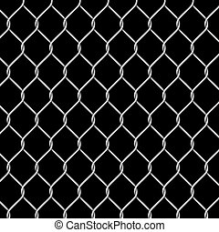 Chrome metal grid - Vector illustration of chrome metal grid...