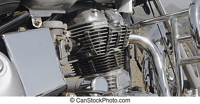 Chrome on an Indian motorcycle