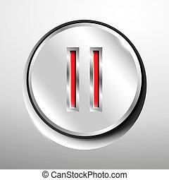 Chrome pause button.