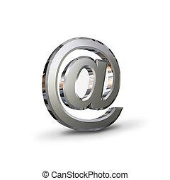 chrome-plated , εις σύμβολο