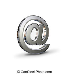 chrome-plated AT symbol