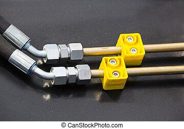 hydraulic mechanism - chrome-plated hydraulic mechanism...