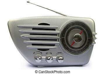 Chrome retro radio